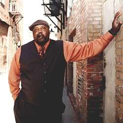 BIG VOICED BELTER:  Sugaray Rayford and his band headline the SLO Blues Society show this March 4 at the SLO Vets Hall. - PHOTO COURTESY OF SUGARAY RAYFORD