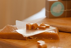 HIGH FIVE YOUR DENTIST :  Some stick-to-your-teeth caramels are impossible to get down. Creamy, soft, buttery, chewy, and delicious, locally made Sugar + Spoon caramels are from a different planet entirely. - PHOTO COURTESY OF SUGAR + SPOON