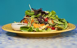 WHERE SALAD STARS:  A salad with a cult following? You bet! In SLO, the Kitchen Sink Salad—which always features whatever's fresh and seasonal right now—is a total phenomenon. - PHOTO BY JAYSON MELLOM