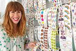 CHEEKY:  Pipsticks is filled wall to wall with all the stickers you could dream of, thanks to Maureen Vázquez, who turned a childhood pastime into a store on Monterey Street in SLO. - PHOTO BY KAREN GARCIA