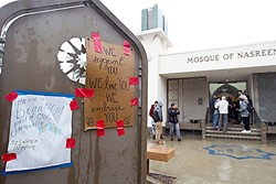 INCLUSIVE:  Members from the SLO community have left notes of support and love for their Muslim neighbors. - PHOTO BY JAYSON MELLOM