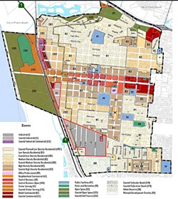 A NEW INDUSTRY:  Grover Beach is one step closer to creating a special zone (outlined in red) for commercial medical marijuana businesses to operate in. - IMAGE COURTESY OF GROVER BEACH