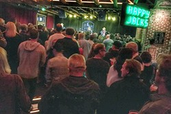 STANDING ROOM ONLY:  Morro Bay's The Siren was packed to the gills on June 3, for Dave and Phil Alvin and The Guilty Ones. - PHOTO BY GLEN STARKEY