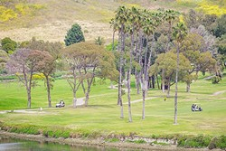 BEACHSIDE :  The Avila Beach Golf Resort puts golf enthusiasts within eyesight of the Pacific Ocean, an estuary, rolling hils, and a creek. What more could you ask for? - PHOTO BY JAYSON MELLOM