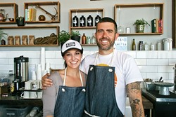 """DEEP DIVE :  Corinn """"Rinney"""" Gallo and James Whitaker are at the helm of a new locals' hangout on Front Street in Avila Beach. - PHOTO BY HAYLEY THOMAS CAIN"""