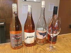 PRETTY IN PINK :  Rosé is being produced up and down the Central Coast, as evidenced by the selection at Central Coast Wines in SLO—and it's not just bled off red grapes anymore. Winemakers such as Brian Brown at ONX are growing grapes specifically for the purpose of making a crisp, clean pink with red wine characteristics such as Indie, a rosé of tempranillo. - PHOTO BY CAMILLIA LANHAM