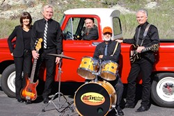 FOR THE VETS!:  The Unfinished Business Memorial Day Jam, Benefiting Disabled Veterans, features five musical acts—including Unfinished Business (pictured)—at Avila Beach Golf Resort on May 29. - PHOTO COURTESY OF UNFINISHED BUSINESS