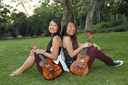 UKULELE PRINCESSES:  Self-taught ukulele duo The Lee Sisters play May 27 at the SLOMA. - PHOTO COURTESY OF THE LEE SISTERS