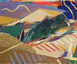 HEAR THOSE HILLS :  Cambria artist Donald Archer sees the rural landscape as a rhythmic patchwork quilt. This piece, 'Valley Rhythms' was inspired by Santa Rosa Creek Road in Cambria. - IMAGE COURESY OF STUDIOS ON THE PARK