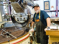 BEAN MAN :  SLO Roasted Coffee Roastmaster Adam Boyd gets those beans roasted and toasted perfectly for the win. - PHOTO BY JAYSON MELLOM