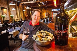 OYSTER HEAVEN:  Oysters aren't the only type of ocean fare Ciopinot Seafood Grille does well, although the restaurant does have one of the only oyster bars in the county. Owner Leonard Cohen said they have a huge selection of pinots to pair with the best seafood in town. - PHOTO BY JAYSON MELLOM