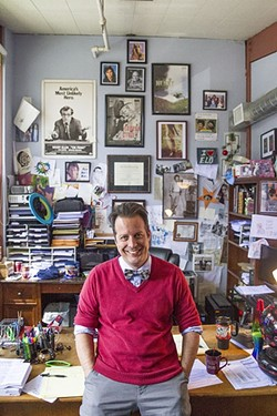 GROWING TOGETHER:  Kevin Harris, who as a local kid acted in productions of shows like 'Evita' and 'A Chorus Line' going back to the '90s, now serves as managing artistic director for the newly renamed SLO Repertory Theatre. - PHOTO BY JAYSON MELLOM