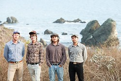 YOUNG MEN; OLD SOULS:  Steep Ravine, an amazing Americana roots and newgrass act, plays two SLOfolks shows this week: May 12, at Coalesce Bookstore; and May 13, at Castoro Cellars - PHOTO COURTESY OF STEEP RAVINE