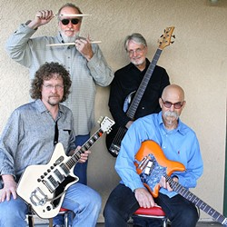 """MYSTERY MEN:  Stunningly talented roots quartet The Mystery Trees return to D'Anbino Wine Cellar on April 29, delivering """"hillbilly blues power."""" - PHOTO COURTESY OF THE MYSTERY TREES"""