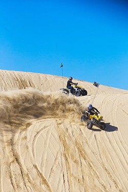 A DIRTY DUST-UP:  The California Department of Parks and Recreation is facing possible enforcement action for allegedly violating dust regulations at the Oceano Dunes. - FILE PHOTO BY JAYSON MELLOM