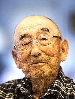 ROOTS:  Haruo Hayashi, a Japanese American farmer and internment camp survivor, still lives in the Arroyo Grande house he was born in 91 years ago. - PHOTO BY JAYSON MELLOM