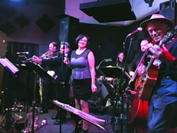 THE LAST HURRAH Swinging dance act The Viper Six has two more gigs together before longtime vocalist Emy Bruzzo relocates to New York: the Avila Bay Athletic Club on June 30, and D'Anbino Cellars on July 1. - PHOTO COURTESY OF SNAP JACKSON