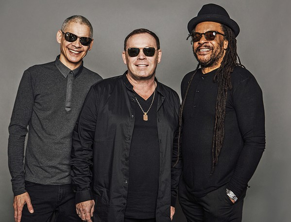 BIRMINGHAM BOYS UB40 founding members—(left to right) Mickey Virtue, Ali Campbell, and Astro—play the Avila Beach Golf Resort on July 7. - PHOTO COURTESY OF UB40
