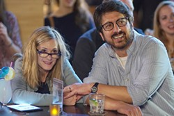 PARENTAL PROBLEMS Emily's parents, Beth (Holly Hunter) and Terry (Ray Romano), aren't sure about Kumail, but as he continues to visit the hospital during Emily's illness, they warm to him. - PHOTO COURTESY OF APATOW PRODUCTIONS