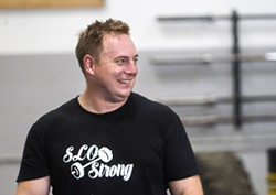 BUILDING ROOTS SLO Strong co-founder Andrew Wickham started the competitive fitness group to foster a sense of community for those who love strength sports. - PHOTO BY JAYSON MELLOM
