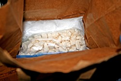 A BOOMING BUSINESS Investigators believed that a local drug ring was responsible for importing large amounts of cocaine into SLO County for sale. - PHOTO COURTESY OF SLO COUNTY SHERIFF'S OFFICE