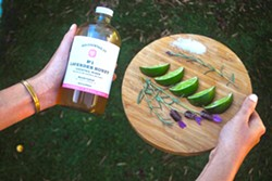 "LAVENDER HONEY Ever taste a ""Lavenderita?"" Add some lavender honey mix from Yes Cocktail Co. to a shot of tequila, splash of Cointreau, and a squeeze of lime juice. There you have it! - PHOTO COURTESY OF YES COCKTAIL CO."