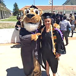 JOURNEY With the help of the California Department of Corrections, Alexander has been able to graduate from Cuesta College and will transfer to Cal Poly in the fall of 2017-18. - PHOTO COURTESY OF MIA ALEXANDER