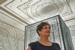 OUTSIDE THE BOX Pakistani-American artist Anila Quayyum Agha was born in Pakistan and works with themes like immigration and feeling like an outsider. - PHOTO COURTESY OF THE HAROLD J. MIOSSI GALERY