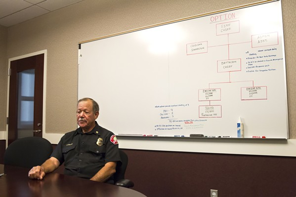 NEW DIRECTION Interim Paso Fire Chief Phil Garcia is helping to steer a restructuring of the Emergency Services Department to add more personnel and eventually build a third fire station. - PHOTO BY JAYSON MELLOM