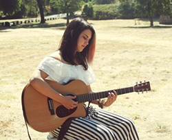ACOUSTIC SOUL LA-based pop singer-songwriter Geena Fontanella plays the first show of the night at Frog and Peach on Thursday, Aug. 31. - PHOTO COURTESY OF GEENA FONTANELLA