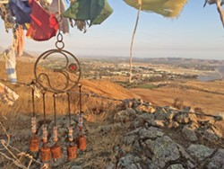 SEEKING SERENITY Find your inner peace in the South Hills Open Space with a hike on the Ridge Trail, the Stoneridge Trail, and a side trip up to the hill where wind-torn prayer flags flap in the breeze. - PHOTO BY CAMILLIA LANHAM