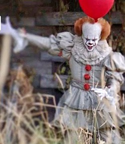 NOTHING SCARIER THAN A CLOWN Bill Skarsgård pulls off a perfectly creepy performance as the villainous clown Pennywise in the remake of the classic thriller IT. - PHOTO COURTESY OF WARNER BROS. PICTURES
