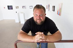 SMALL SPACE, BIG ART After closing the Left Field retail shop in May, owner Nick Wilkinson decided to keep the small gallery next door going. - PHOTO BY JAYSON MELLOM