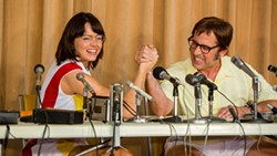 EQUALITY In the historical film, Battle of the Sexes, two tennis pros battle it out in their sport on the court and off in the midst of the fight for equality between men and women. - PHOTO COURTESY OF FOX SEARCHLIGHT PICTURES