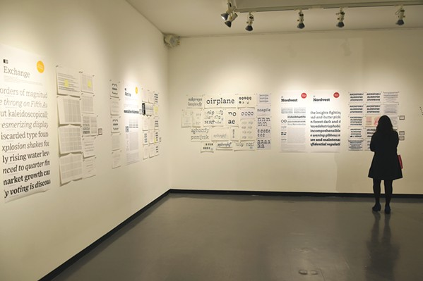 READ THE ROOM Swiss typeface designer Nina Stössinger's work is currently on view at Cal Poly's University Art Gallery. - PHOTO COURTESY OF NINA STÖSSINGER
