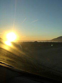 STUNNING My drive home from LA could not have been more gorgeous, with the sun dipping below the ocean horizon as I drove north through Ventura and Santa Barbara. - PHOTO BY PETER JOHNSON