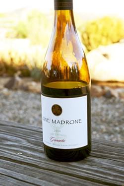 VINEYARD IN A BOTTLE Each bottle of limited production Lone Madrone Wine is made from a unique westside Paso Robles vineyard with an equally singular story to tell. - PHOTO BY HAYLEY THOMAS CAIN