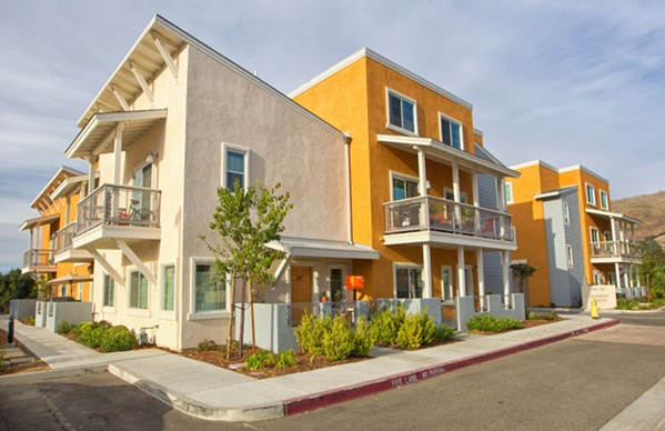 INCLUSIONARY UNITS Affordable housing units like these on Lavender Lane and Humbert Avenue were built by leveraging inclusionary housing funds from both San Luis Obispo county and city to pull in outside money. - PHOTO BY JAYSON MELLOM