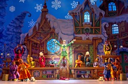 HEY BUDDY! Elf: The Musical, about Buddy, the human raised as an elf, comes to the PAC on Nov. 29. - PHOTO COURTESY OF JOAN MARCUS