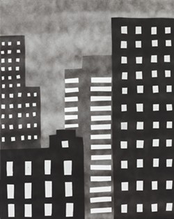 SKY HIGH Artist William Carroll is inspired by his East Village neighborhood, where buildings can only be built six stories tall and the sky can still be seen. - PHOTO COURTESY OF WILLIAM CARROLL