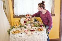 DO YOU TAKE CREAM? Whitney Taylor of Cup and Carriage is a tea fanatic who will bring the tea party to you. Using locally made goodies—including scones, cookies, cakes, and more—she can customize your own tea experience. - PHOTO COURTESY OF KRISTIN RAYNOR PHOTOGRAPHY