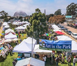 DOWN BY THE BAY Under art promoter Steve Powers, attendance at the Morro Bay Art in the Park events has grown. - PHOTO COURTESY OF STEVE POWERS