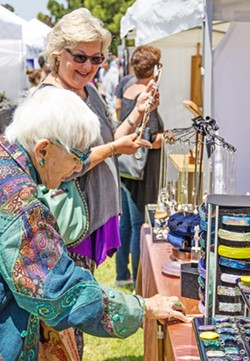 HIGH END At Morro Bay Art in the Park (and the upcoming Paso Robles Art in the Park) arts promoter Steve Powers looks to book fine artists and artisan craftsman to come and sell their wares. - PHOTO COURTESY OF STEVE POWERS