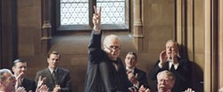 WAR Winston Churchill (Gary Oldman, center) struggles with negotiating with or fighting against Hitler's Nazi Germany in Darkest Hour. - PHOTO COURTESY OF FOCUS FEATURES