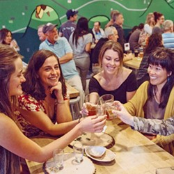 TOP OF THE MOUNTAIN 7Sisters Brewing Company located on Tank Farm Road is the new place for eco-conscious brews and locally sourced snacks. - PHOTO COURTESY OF 7SISTERS BREWING CO.