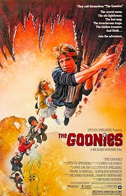 NEVER SAY DIE According to designer and Morro Bay resident Jeffrey Bacon, Steven Spielberg movies like The Goonies were always a blast to work on. - IMAGES COURTESY OF JEFFREY BACON