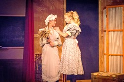 A LITTLE KINDNESS Sara Crewe's (Sienna Ritter, right) good nature touches everyone she meets, including Becky, the maid (Molly Himelblau). - PHOTO COURTESY OF RYLO MEDIA DESIGN