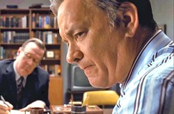 GUTS AND GLORY Tom Hanks (right) stars as editor Ben Bradlee, who pushed to publish the so-called Pentagon Papers despite a court order forbidding it. - PHOTO COURTESY OF AMBLIN ENTERTAINMENT AND DREAMWORKS