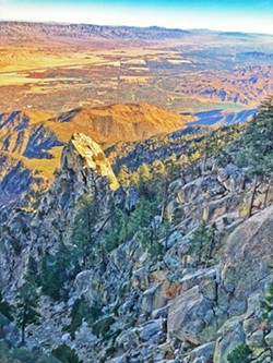 TOP OF THE WORLD The view from the Palm Springs Aerial Tramway took our breath away. - PHOTO BY GLEN STARKEY