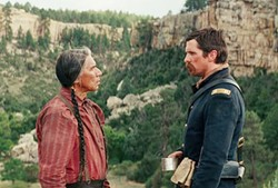 WILD WEST An American army captain must escort a dying Cheyenne war chief back to tribal lands in Hostiles. - PHOTO COURTESY OF ENTERTAINMENT STUDIOS MOTION PICTUES